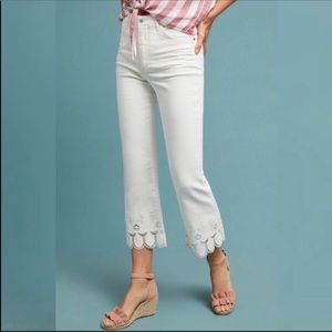 Pilcro and the Letterpress Jeans - NWT Anthropologie High Waist Flare Crop Pants